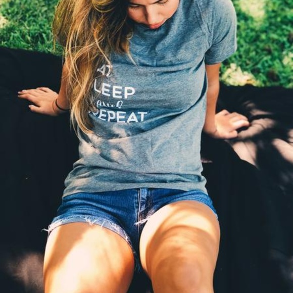 Tops - EAT SLEEP TRAVEL REPEAT Travel T-shirt